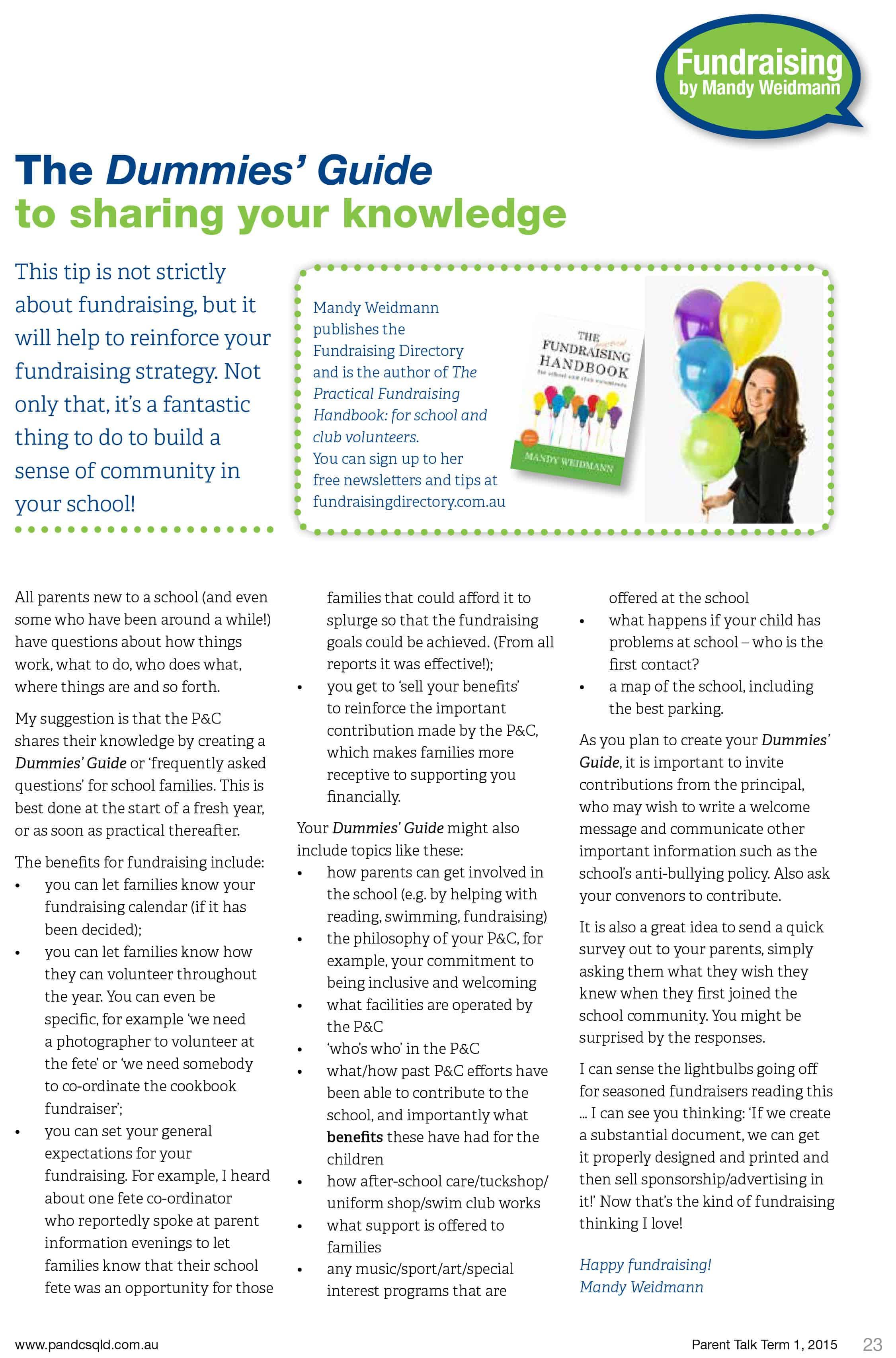 School Community Participation Fundraising Directory