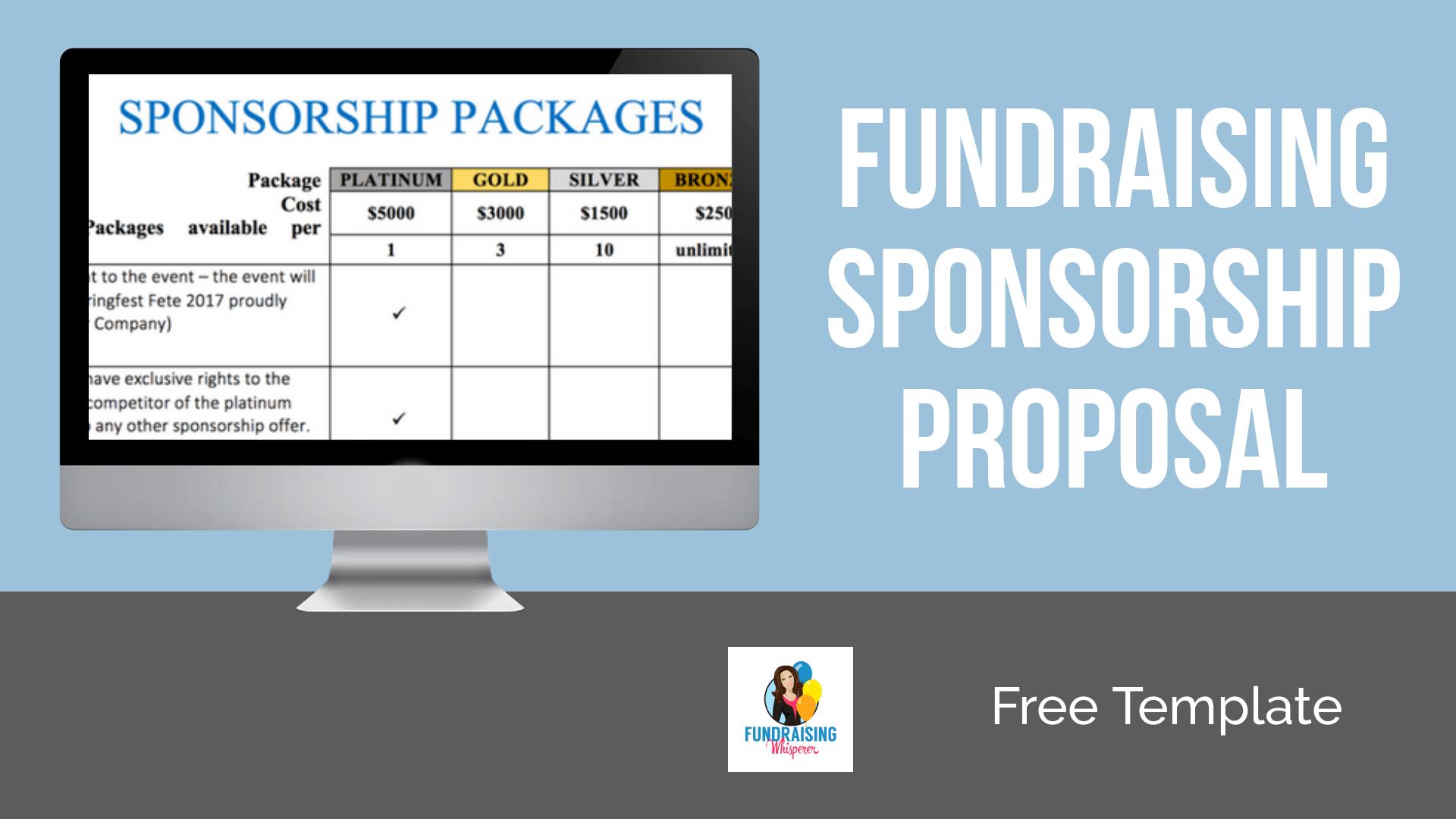 Fundraising sponsorship proposal template free maxwellsz