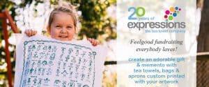 20 years expres tea towel header