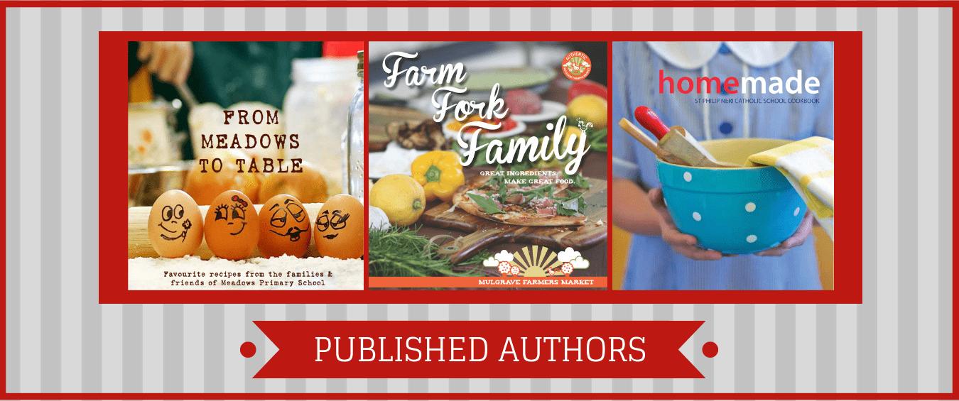 Published Authors Cookbooks