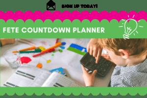 fete countdown planner