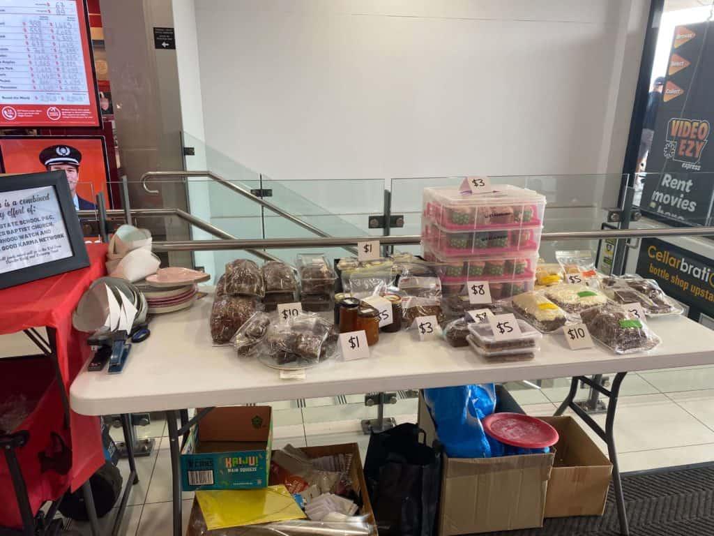 Bushfire Fundraiser Cake Stall