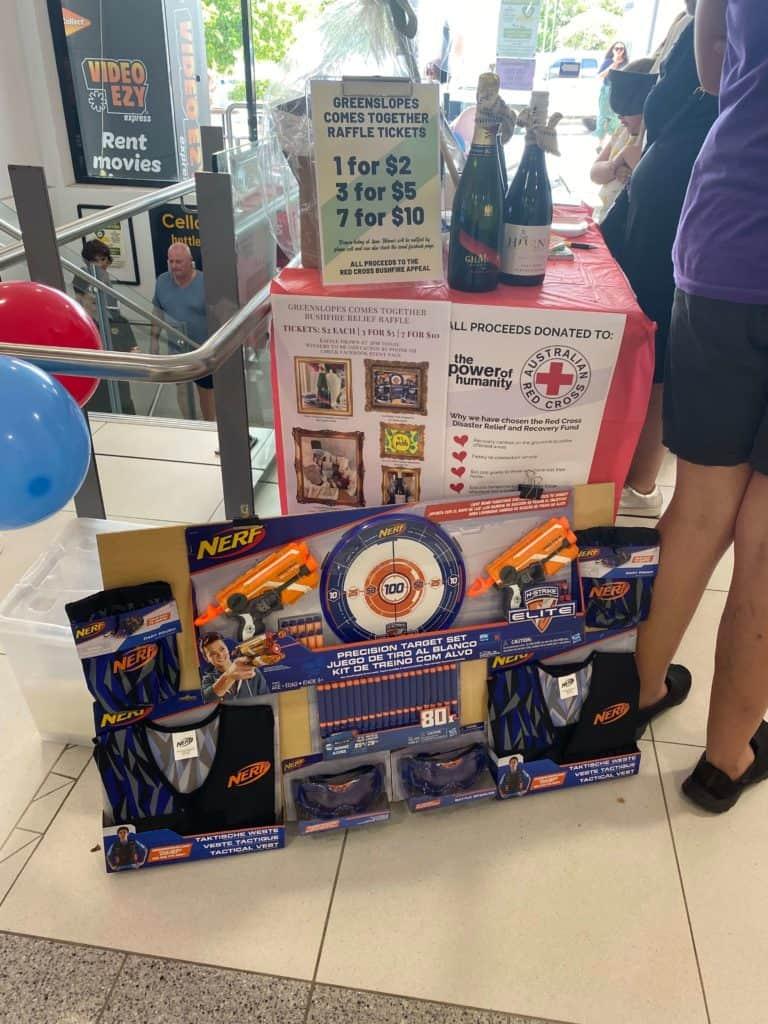 bushfire raffle donated items