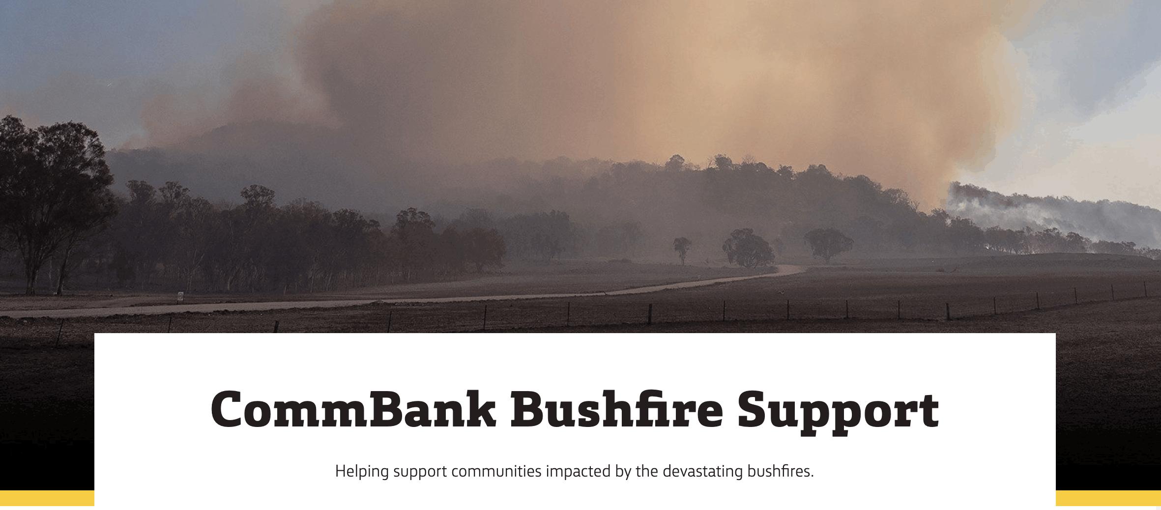 commbank bushfire appeal