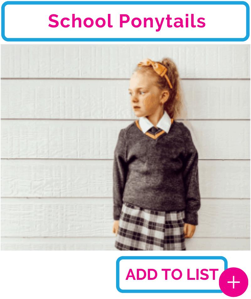 School Ponytails