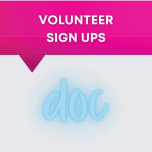 Volunteer Sign Ups