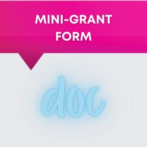 Mini-Grant Form